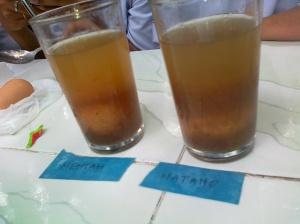 air putih + asam kamal (asam jawa)
